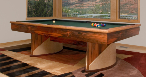 Ovoid Trestle Pool Table